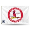 St. Louis Cardinals MLB 3in x 5in Banner Flag (Cooperstown)