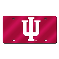 Indiana Hoosiers NCAA Laser Cut License Plate Cover
