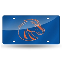 Boise State Broncos NCAA Laser Cut License Plate Cover Colored