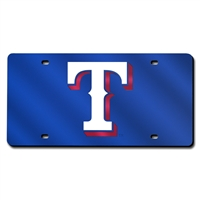 Texas Rangers MLB Laser Cut License Plate Cover