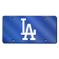 Los Angeles Dodgers MLB Laser Cut License Plate Cover