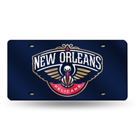 New Orleans Pelicans NBA Laser Cut License Plate Tag