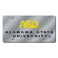 Alabama State Hornets NCAA Laser Cut License Plate Cover