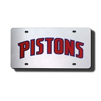 Detroit Pistons NBA Laser Cut License Plate Cover
