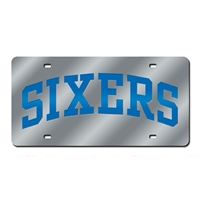 Philadelphia 76ers NBA Laser Cut License Plate Cover