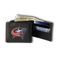 Columbus Blue Jackets NHL Embroidered Billfold Wallet