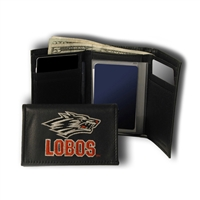 New Mexico Lobos NCAA Embroidered Trifold Wallet
