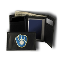 Milwaukee Brewers MLB Embroidered Trifold Wallet