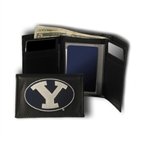 Brigham Young Cougars NCAA Embroidered Trifold Wallet