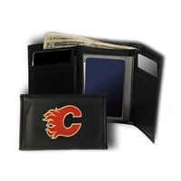Calgary Flames NHL Embroidered Trifold Wallet