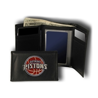 Detroit Pistons NBA Embroidered Trifold Wallet