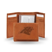 Carolina Panthers NFL Tri-Fold Wallet (Pecan Cowhide)