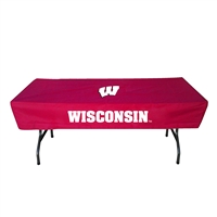Wisconsin Badgers NCAA Ultimate 6 Foot Table Cover