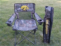 Iowa Hawkeyes Realtree Camo Chair