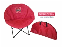 Nebraska Cornhuskers Round Chair