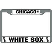 Chicago White Sox MLB Chrome License Plate Frame