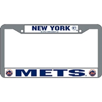 New York Mets MLB Chrome License Plate Frame