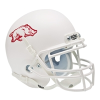 Arkansas Razorbacks NCAA Authentic Mini 1/4 Size Helmet (Alternate White 1)