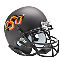 Oklahoma State Cowboys NCAA Authentic Mini 1/4 Size Helmet (Alternate Black 3)