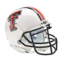 Texas Tech Red Raiders NCAA Authentic Mini 1/4 Size Helmet (Alternate White 1)