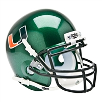 Miami Hurricanes NCAA Authentic Mini 1/4 Size Helmet (Alternate 1)