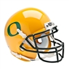 Oregon Ducks NCAA Authentic Mini 1/4 Size Helmet (Alternate Gold w/GD Decal 2)