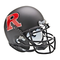 Rutgers Scarlet Knights NCAA Authentic Mini 1/4 Size Helmet (Alternate Black w/ Red 2)
