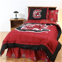 South Carolina (SC) Gamecocks Bed in a Bag Twin - with Team Colored Sheets