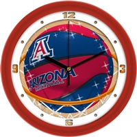 "Arizona Wildcats Slam Dunk 12"" Wall Clock"
