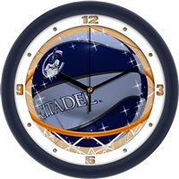 "Citadel Bulldogs Slam Dunk 12"" Wall Clock"