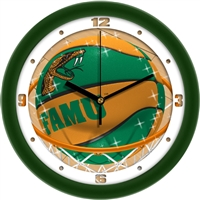 "Florida A&M Rattlers Slam Dunk 12"" Wall Clock"