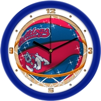 "Fresno State Bulldogs Slam Dunk 12"" Wall Clock"