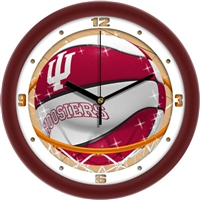 "Indiana Hoosiers Slam Dunk 12"" Wall Clock"