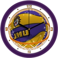 "James Madison Dukes Slam Dunk 12"" Wall Clock"