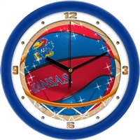 "Kansas Jayhawks Slam Dunk 12"" Wall Clock"