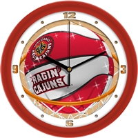 "Louisiana Lafayette (ULL) Ragin' Cajuns Slam Dunk 12"" Wall Clock"