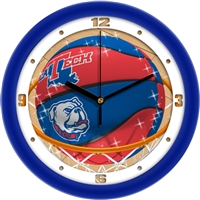"Louisiana Tech Bulldogs Slam Dunk 12"" Wall Clock"