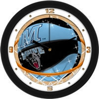 "Maine Black Bears Slam Dunk 12"" Wall Clock"