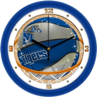 "Memphis Tigers Slam Dunk 12"" Wall Clock"