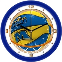"Morehead State (MSU) Eagles Slam Dunk 12"" Wall Clock"