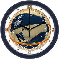 "United States Naval Academy Slam Dunk 12"" Wall Clock"