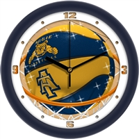 "North Carolina A&T Aggies Slam Dunk 12"" Wall Clock"