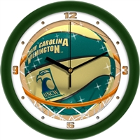 "North Carolina Wilmington (UNCW) Seahawks Slam Dunk 12"" Wall Clock"