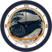 "Nevada Wolfpack Slam Dunk 12"" Wall Clock"