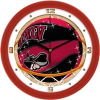 "UNLV Runnin' Rebels Slam Dunk 12"" Wall Clock"