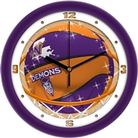 "Northwestern State University Demons Slam Dunk 12"" Wall Clock"