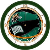 "Ohio Bobcats Slam Dunk 12"" Wall Clock"