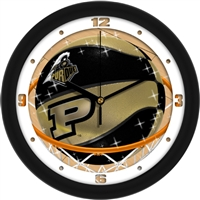 "Purdue Boilermakers Slam Dunk 12"" Wall Clock"
