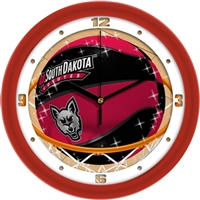 "South Dakota Coyotes Slam Dunk 12"" Wall Clock"