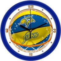 "South Dakota State Jack Rabbits Slam Dunk 12"" Wall Clock"
